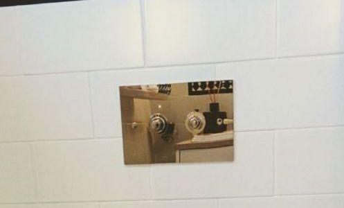 élégante plaque declenchement wc