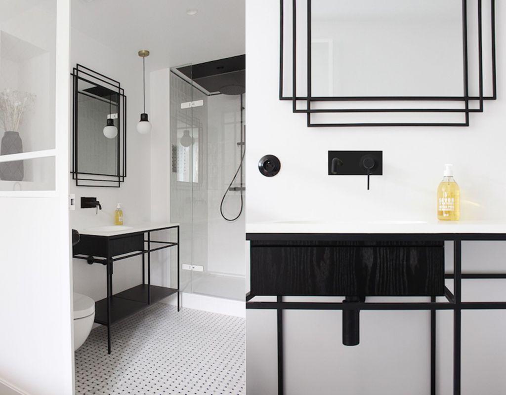 meuble-vasque-noir-plan-ceramilux-robinetterie-noire-douche-noir-art-deco
